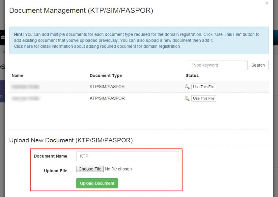 Cara Upload Dokumen Syarat Aktivasi Domain ID