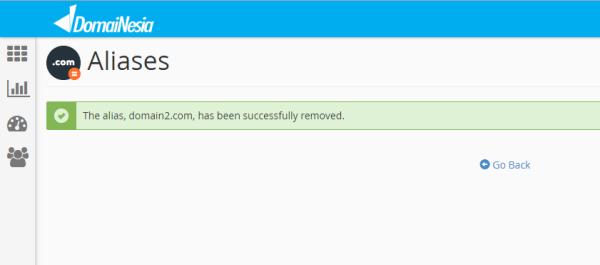 Aliases successfully remove