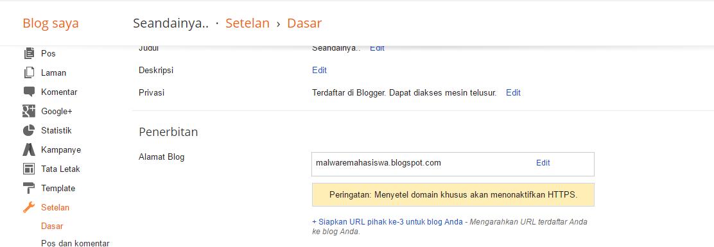 custom domain ke blogger