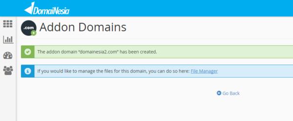 success add-on domain
