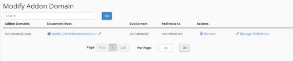 modify add-on domain