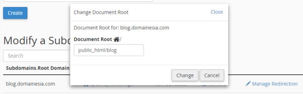 change document root