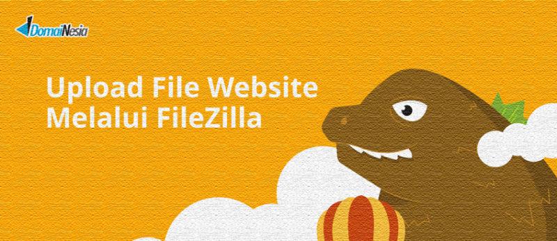 upload file website melalui filezilla