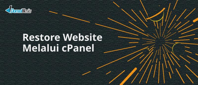 restore website melalui cpanel