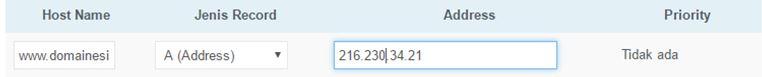 domain ke server