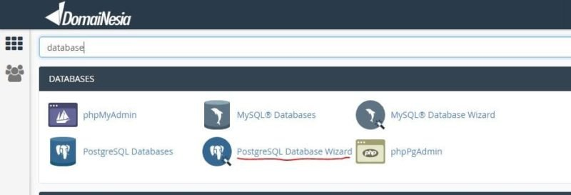 database postgreSQL di cPanel