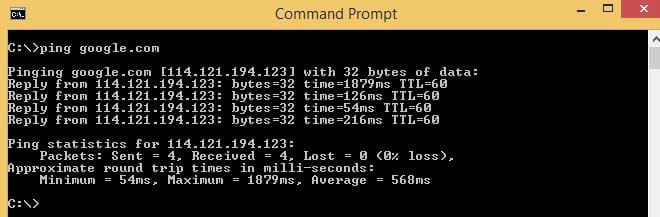 cara menggunakan ping di windows linux dan mac