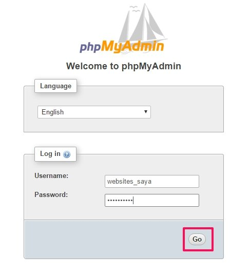 cara install phpmyadmin melalui softaculous