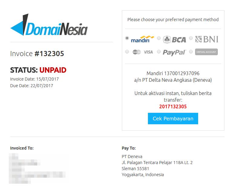 cara perpanjang domain