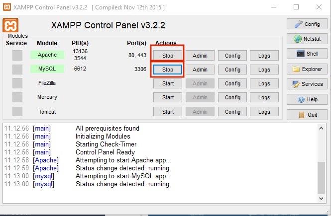 Cara membuat database MySQL localhost phpmyadmin - XAMPP