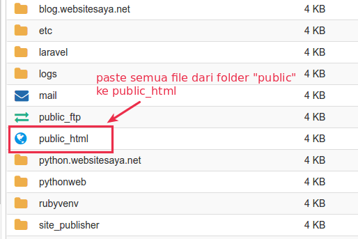 cara upload file laravel ke hosting