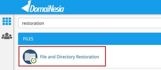 cara restore website