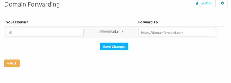 cara setting domain forwarding