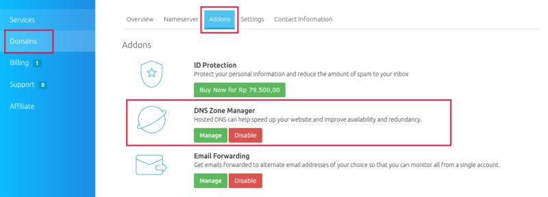 cara membuat subdomain domain id