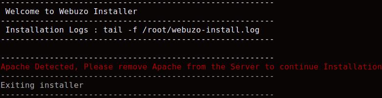 cara install webuzo di vps