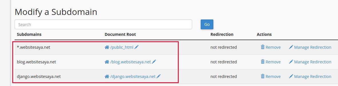 cara melihat letak folder website