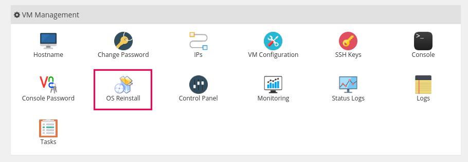 cara install OS di VPS
