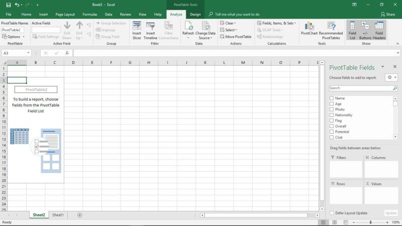 pivot tabel 1