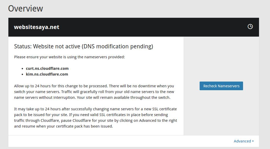 cara sinkronisasi hosting ke cloudflare
