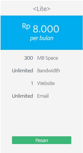 Hosting Murah Unlimited bayar bulanan