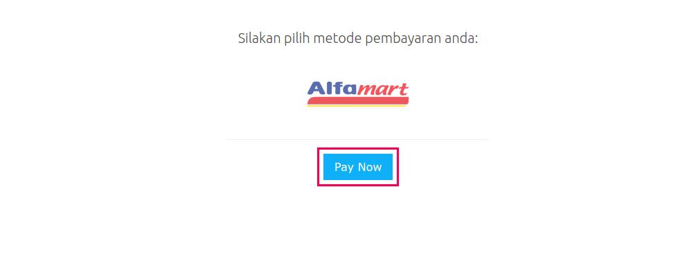 cara membayar lewat alfamart