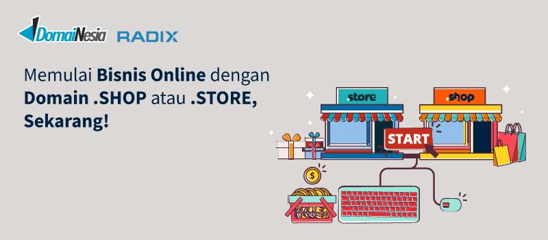 Memulai Bisnis Online Dengan Store Dan Shop Domainesia