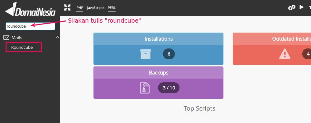 cara install roundcube di hosting