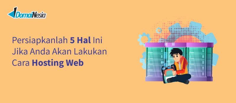 lakukan cara hosting web