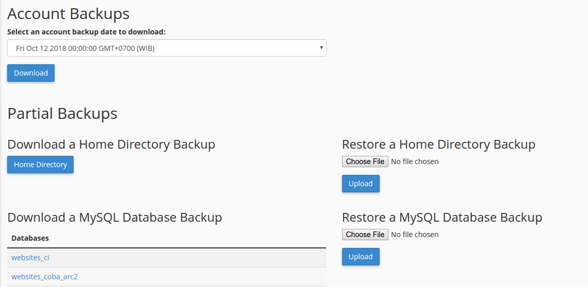 how to backup daily with cronjob