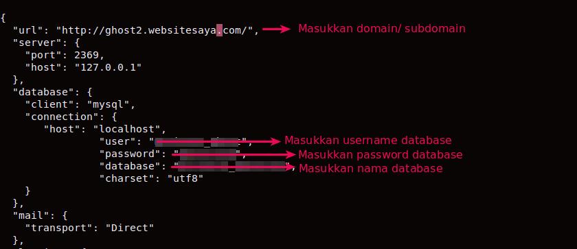 cara mengubah database ghost menjadi mysql