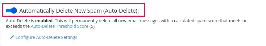 cara filter email spam di hosting