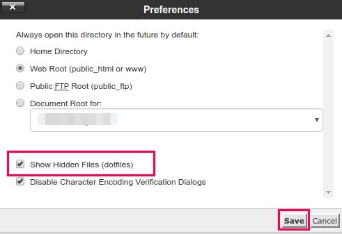 cara menampilkan hidden file di hosting