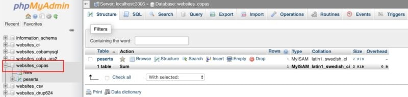 how to duplicate MySQL database