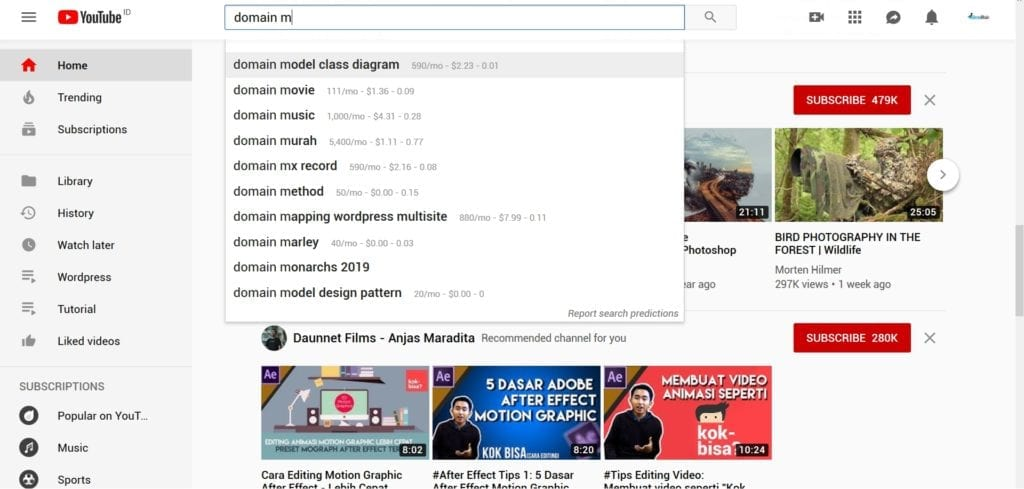 Cara Riset Keyword Youtube Paling Jitu Domainesia
