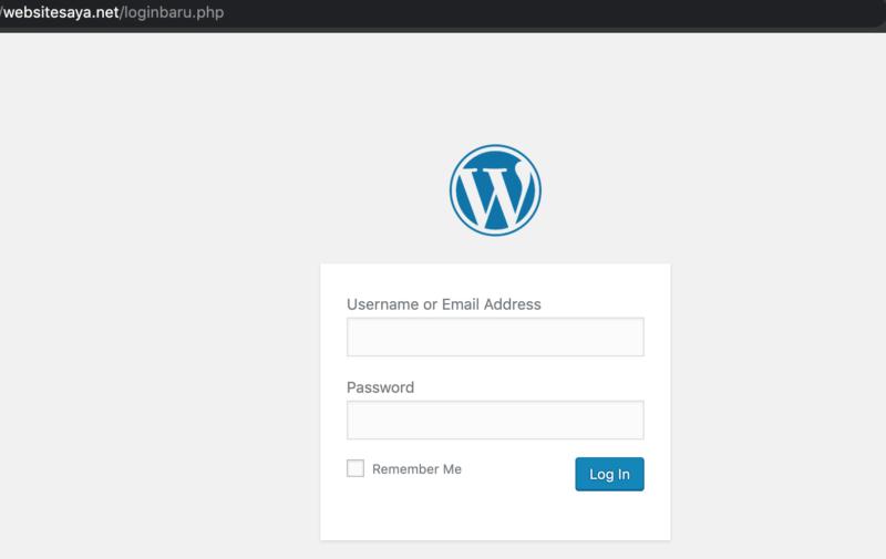 cara mengganti url wp-admin WordPress tanpa plugin