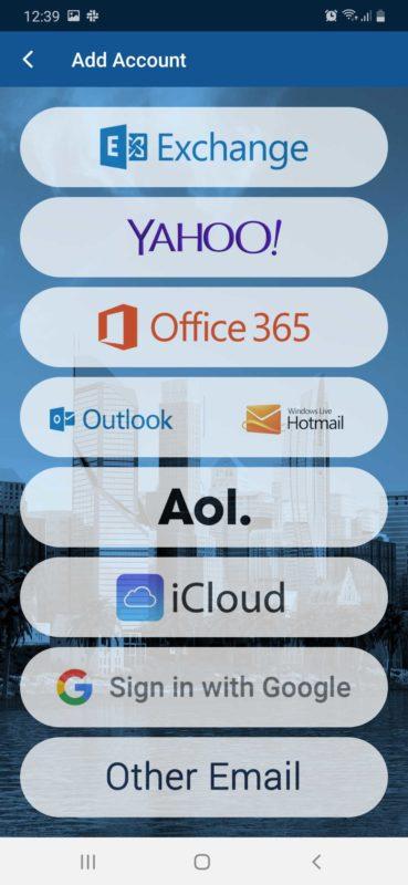 cara setting email di bluemail