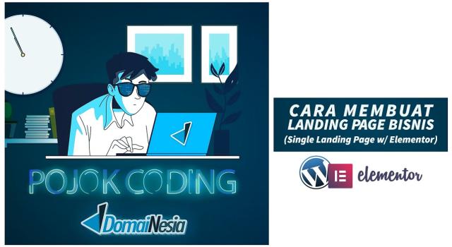 cara membuat landing page bisnis yt